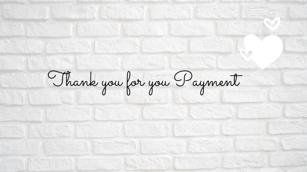 Thank you for your payment logo
